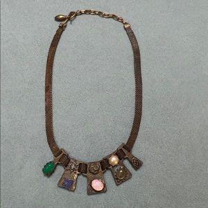 Vintage 1970s Wiccan charm pendant choker necklace
